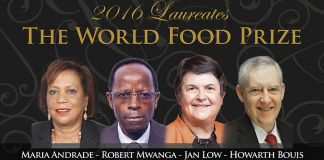 Four winners of 2016 World Food Prize (World Food Prize Foundation)