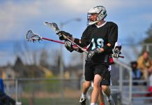 Lacrosse player (© Shutterstock/James A. Boardman)