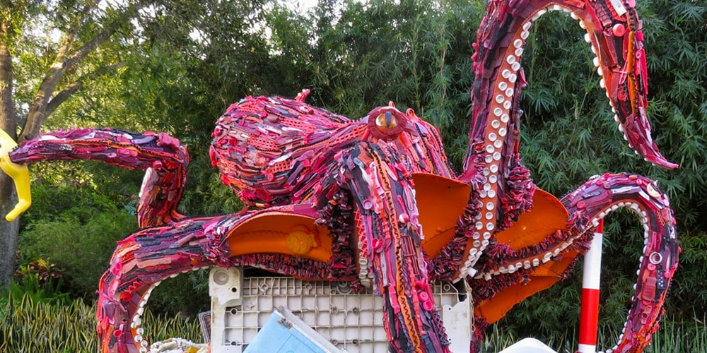 Octopus made of plastic trash (Courtesy of Smithsonian's National Zoo)