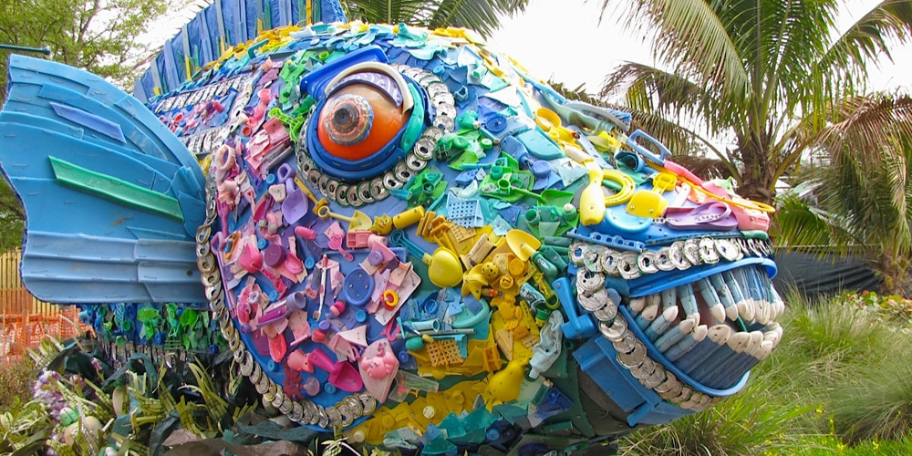 Plastic sculpture of parrotfish (Courtesy of Smithsonian's National Zoo)