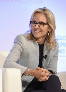 Ann Lamont, seated and smiling (Global Entrepreneurship Summit)