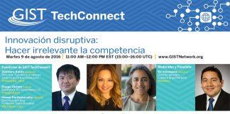 Composición fotográfica con imágenes de los panelistas e información sobre el programa en línea (Depto. de Estado)