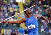 Man throwing a javelin (© AP Images)