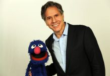 Grover the Muppet (left) and Antony Blinken (State Dept.)