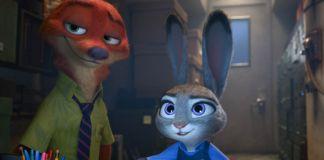 Ilustração de uma raposa e um coelho olhando para um computador (© Disney)