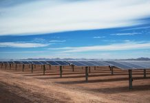 Solar panels in desert (Courtesy of Sempra U.S. Gas and Power)