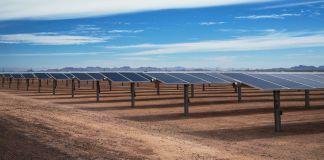 ریگستان میں شمسی توانائی کے پینل۔ (Sempra Energy)