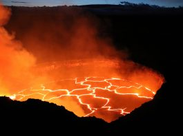 Lava flowing from volcano (© AP Images)