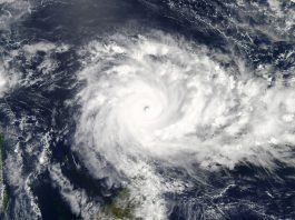 View from space of cyclone (NASA)