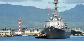 Missile destroyer ship USS Sampson (U.S. Navy)