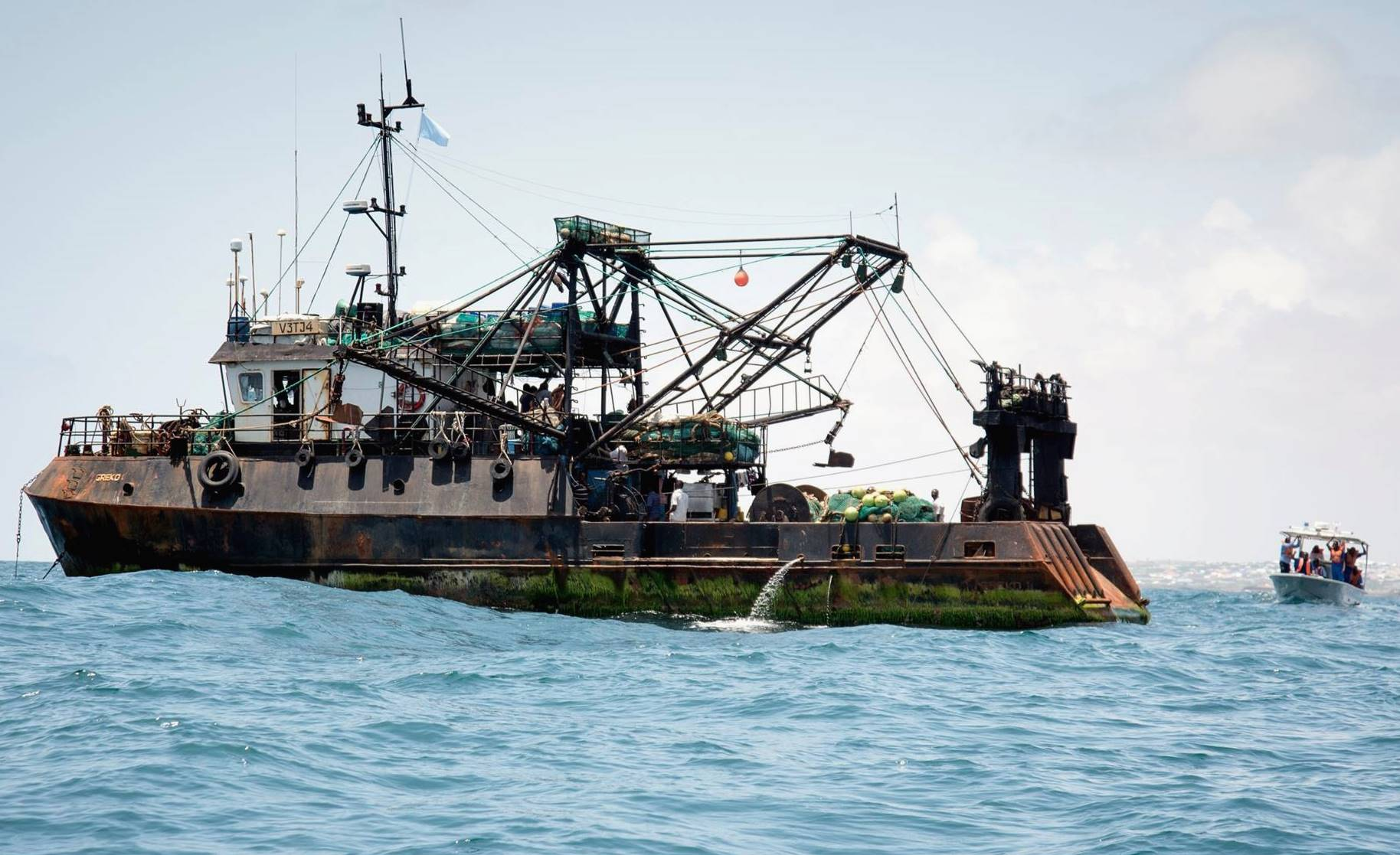 Rust-covered fishing vessel (Courtesy of FISH-i Africa)