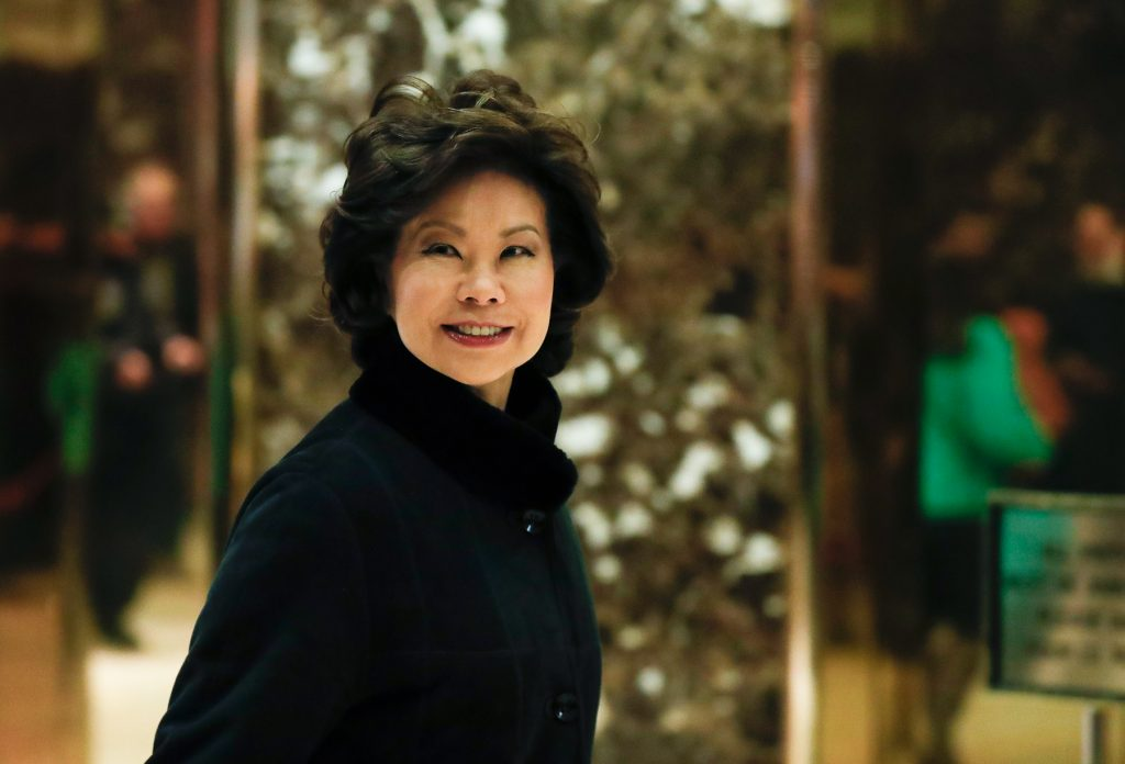Elaine Chao smiling (© AP Images)