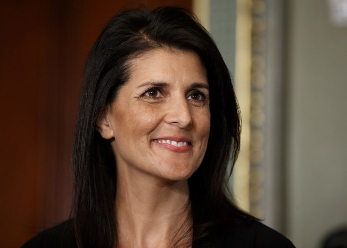Close-up of Nikki Haley (© AP Images)