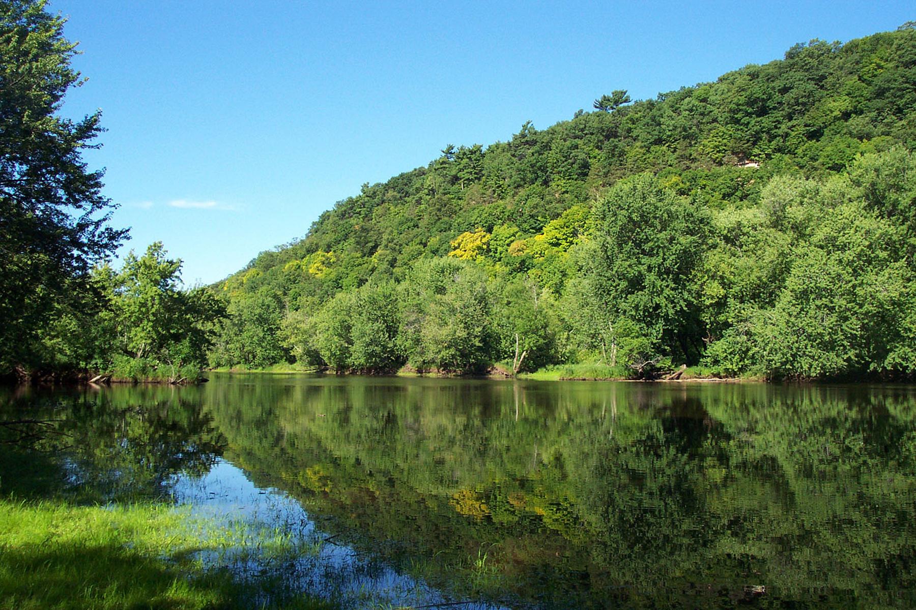 سرسبز درختوں سے گھرا ہوا دریا۔ (NPS)