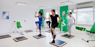 Women exercising in gym (Courtesy of B-Fit Sports and Healthy Living Centers for Women)