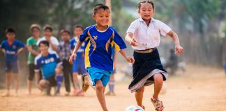 Two children playing soccer (Courtesy of Spirit of Soccer)