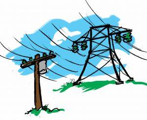 Illustration of power lines. (State Dept.)