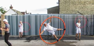 Man performing with hula hoop (Courtesy photo)