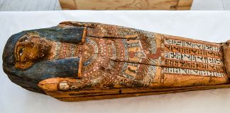Egyptian burial sarcophagus (Immigration and Customs Enforcement)