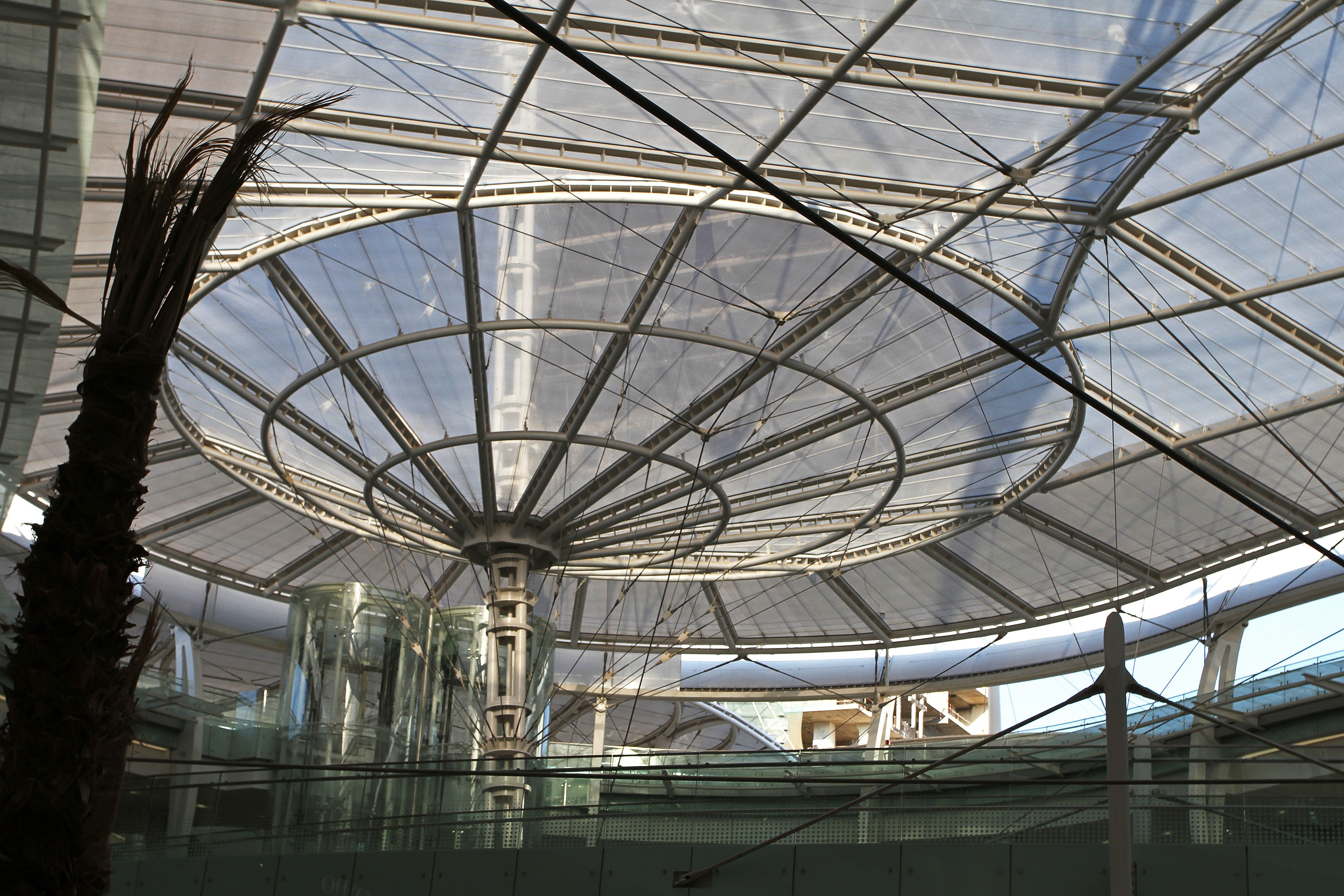 Large, modernistic glass roof (© AP Images)