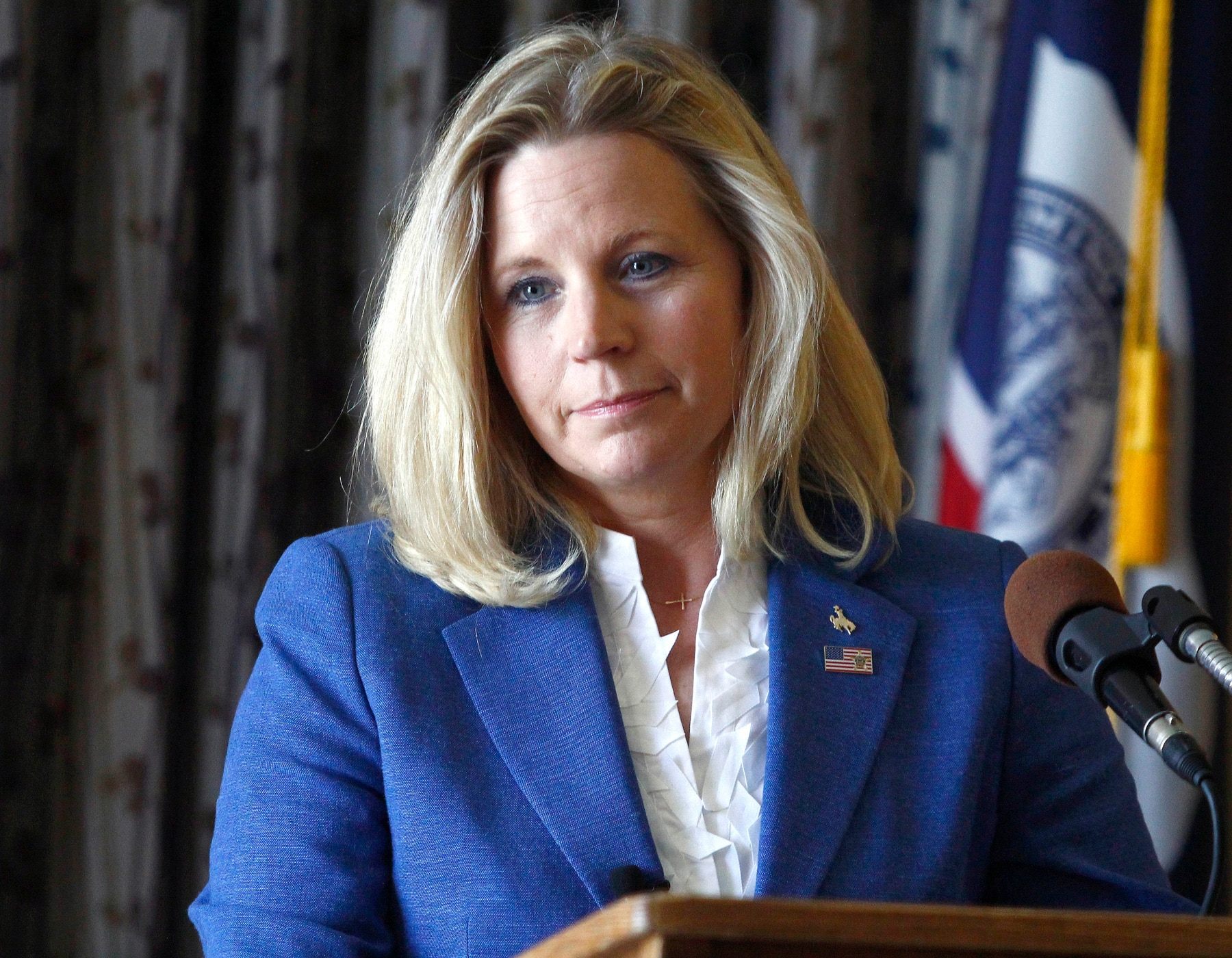Liz Cheney at lectern (© AP Images)