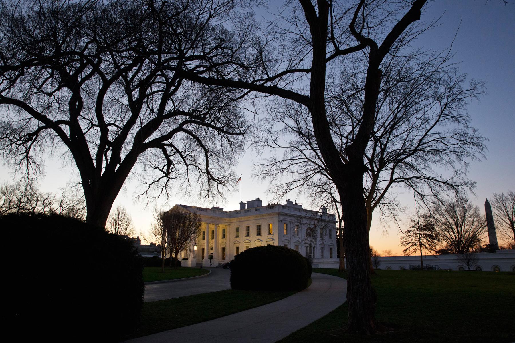 La Casa Blanca al amanecer (© AP Images)