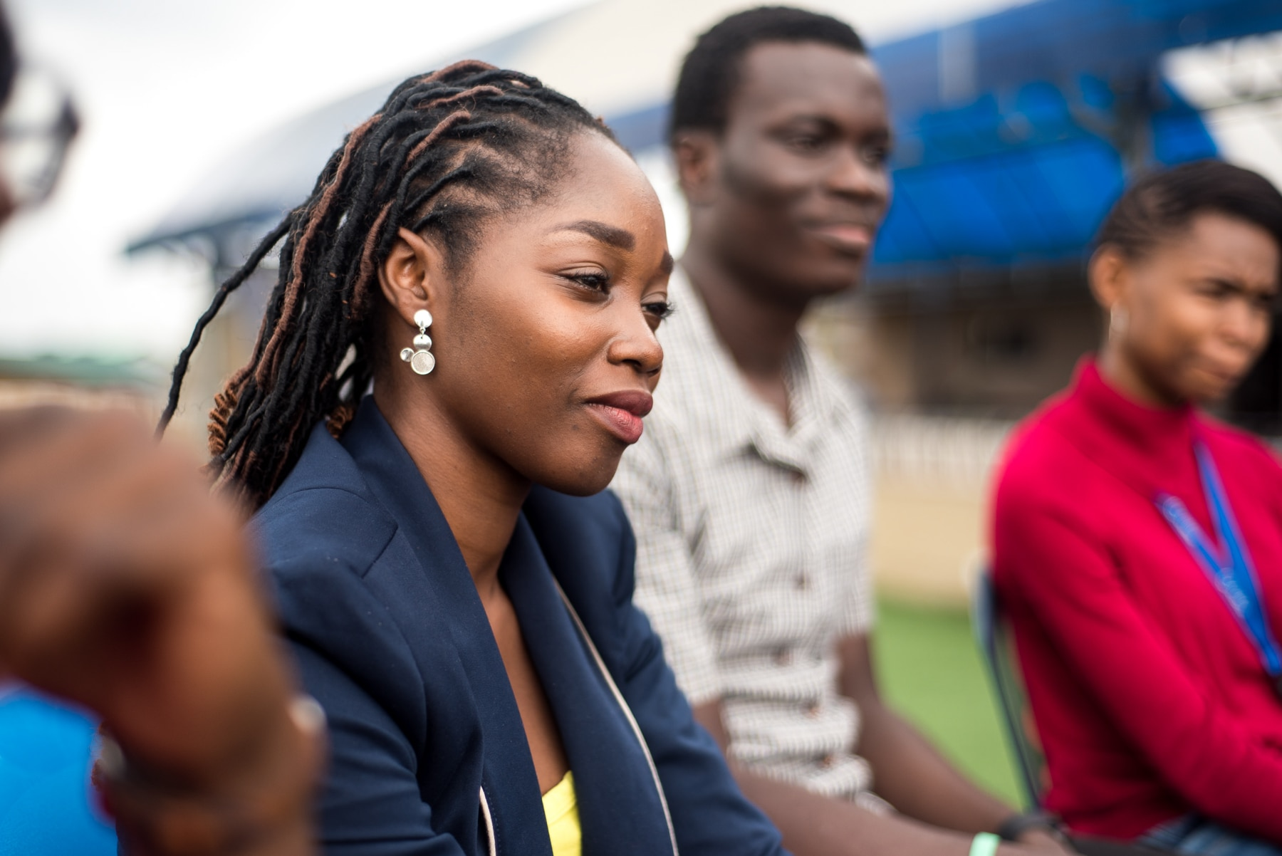 Close-up of woman sitting with others (Courtesy of Andela)