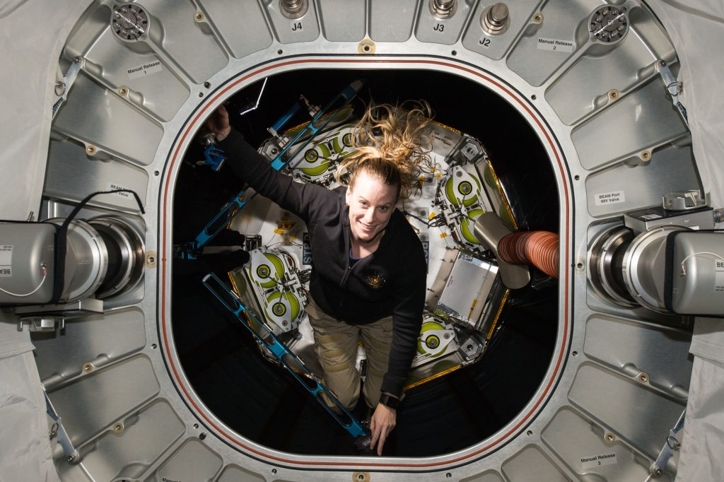 Kate Rubins in space station (NASA)