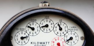 Close-up of electricity meter (Shutterstock)