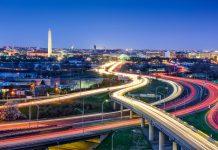 Brightly lit city highways (Shutterstock)