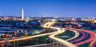 Brightly lit city highways (Shutterstock)
