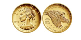 Front and back of gold coin (U.S. Mint)