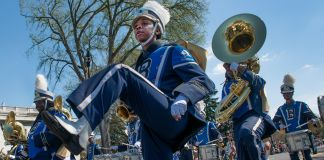 Band marching in parade (© Getty Images/Linda Davidson/The Washington Post)