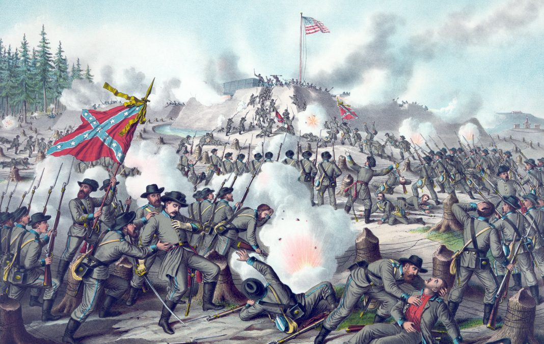 Painting of large Civil War battle (Image by Buyenlarge/Getty Images)