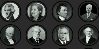 Composite of photos of 12 former secretaries of state (State Dept./Sara Gemeny Wilkinson)