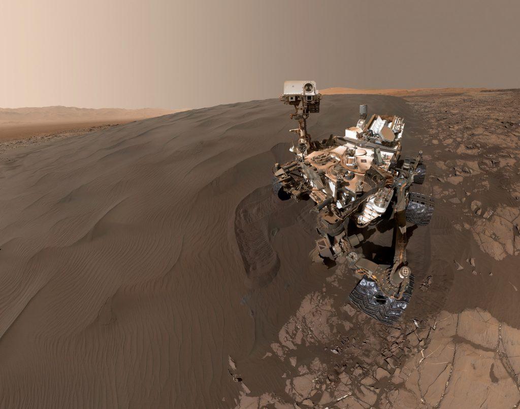 Curiosity rover on Mars (NASA)