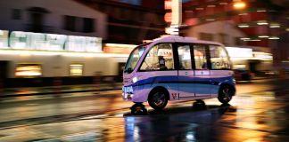 Driverless shuttle (© AP Images)