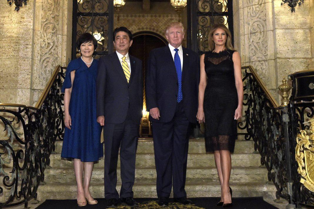 Akie Abe, Shinzo Abe, Donald Trump and Melania Trump (© AP Images)