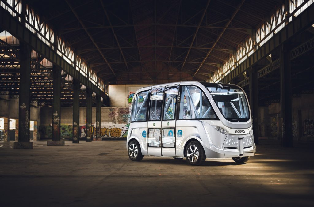 Driverless bus (NAVYA)