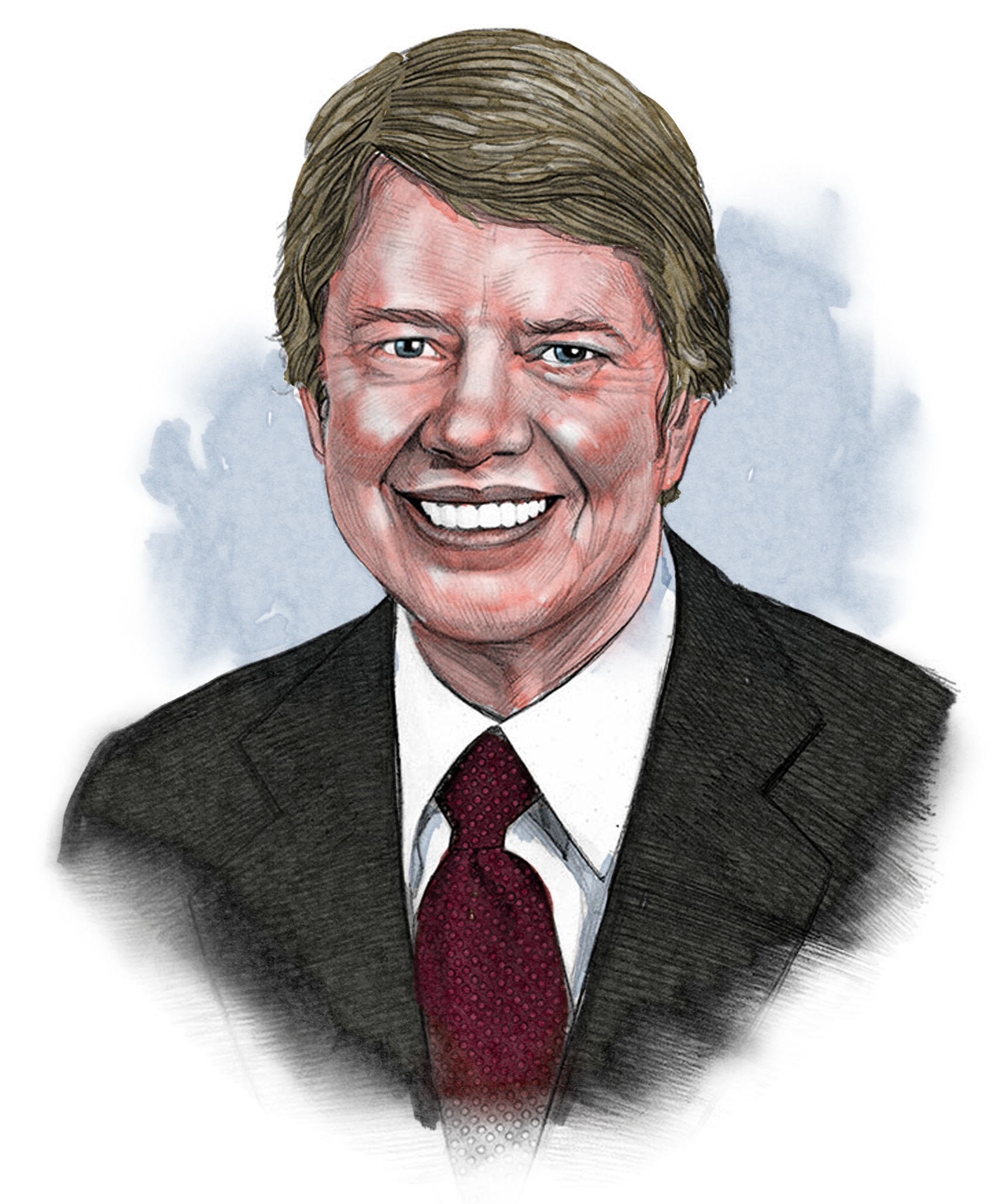 Illustrated image of President Carter (© siteseen.info)