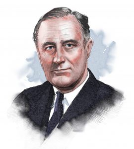 Illustrated image of President Roosevelt (© siteseen.info)