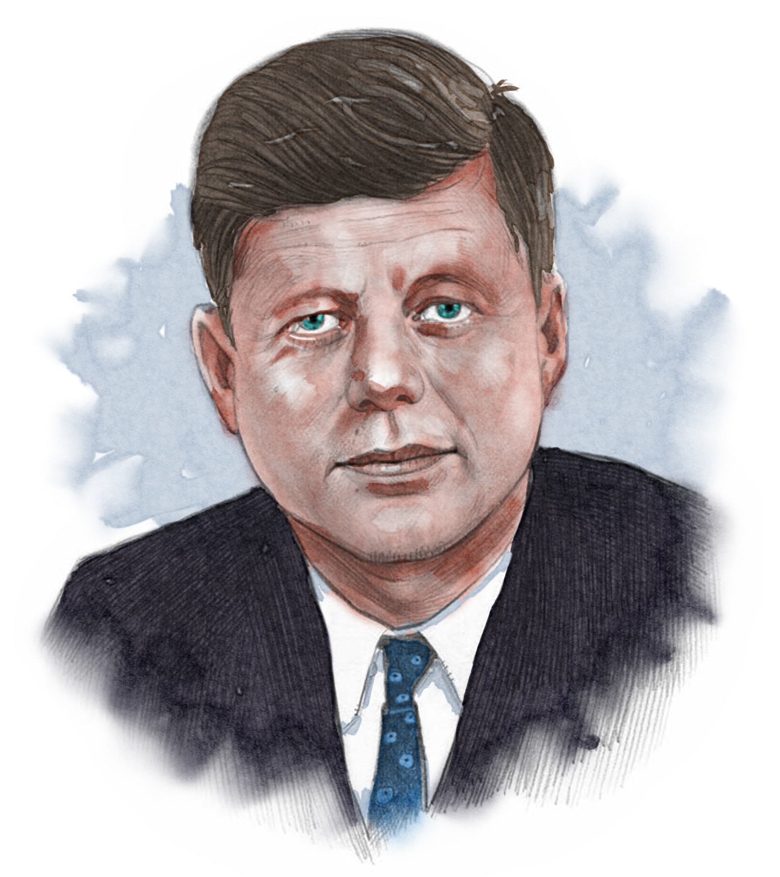 Illustrated image of President Kennedy (© siteseen.info)