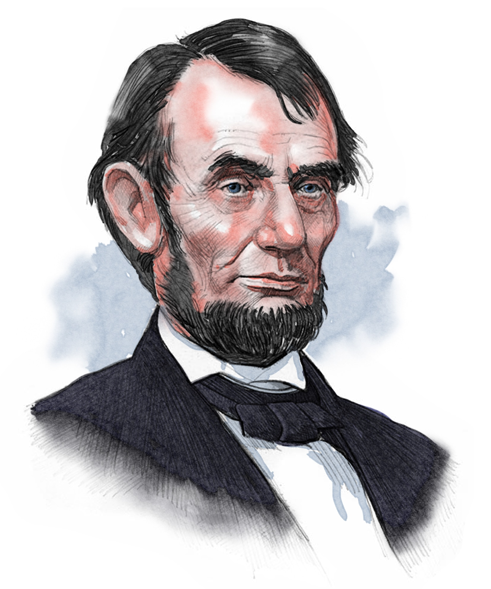 Illustrated image of President Lincoln (© siteseen.info)