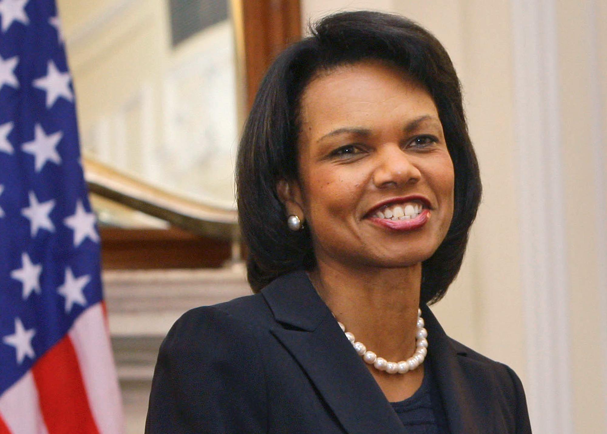 Condoleezza Rice smiling (© AP Images)