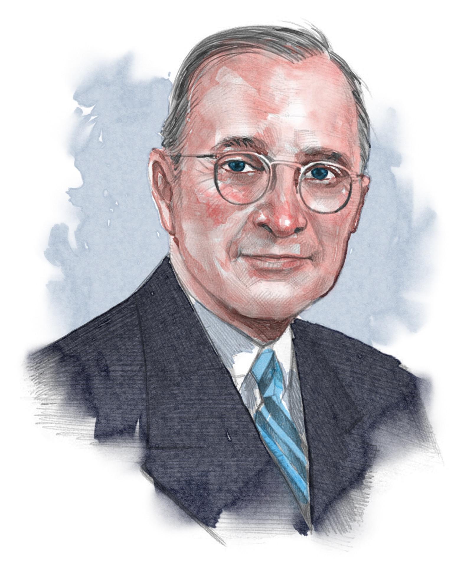 Illustrated image of President Truman (© siteseen.info)