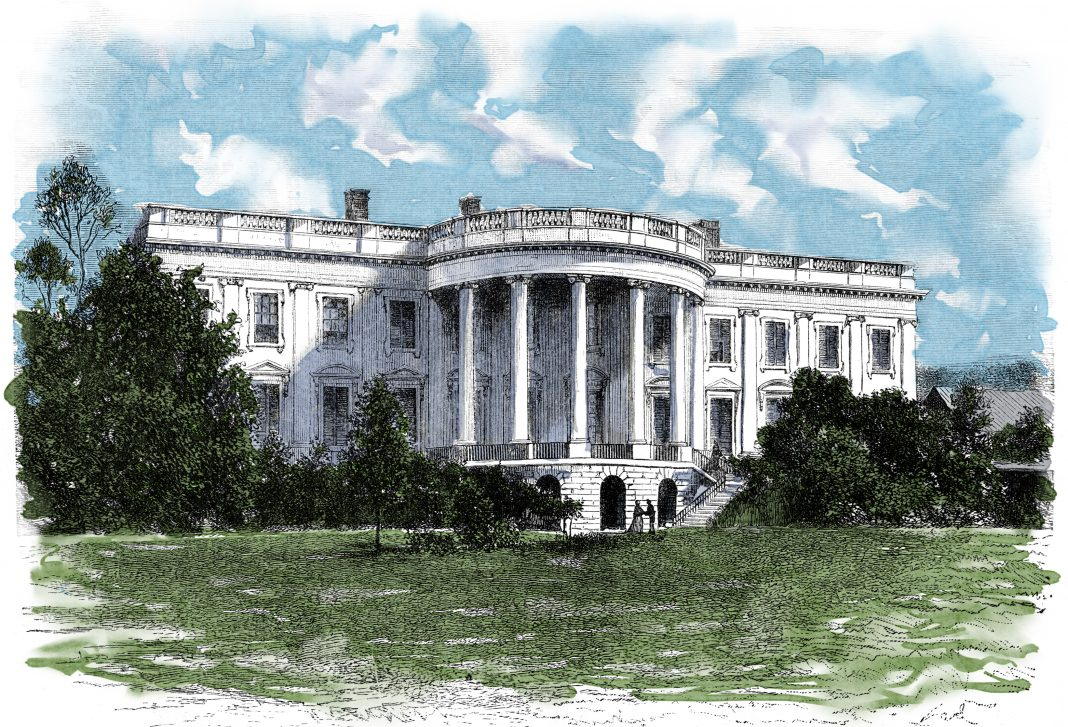 Color illustration of White House (Shutterstock)
