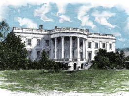 Dessin aux crayons de couleur de la Maison Blanche (Shutterstock)