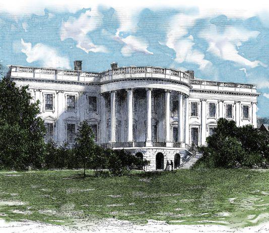 Color illustration of White House (Shutterstock)
