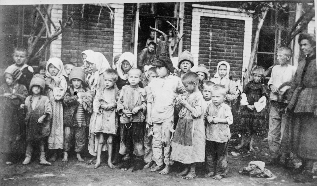 Group of children in need of food and clothing (Library of Congress)
