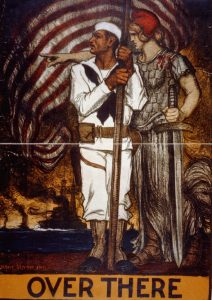 Vintage poster showing sailor and allegorical female figure (Library of Congress)